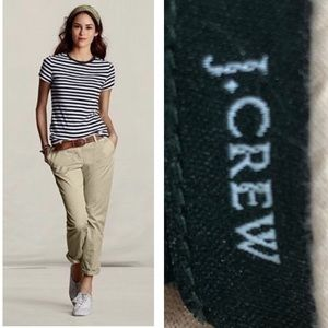 J CREW BROKEN IN SCOUT CHINO CITY FIT ANKLE PANTS
